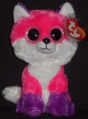 """TY BEANIE BOOS - JOEY the 6"""" FOX - MINT with MINT TAG"""