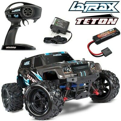 NEW Traxxas LaTrax Teton 1/18 4WD RTR RC Monster Truck BLACK w/BATTERY & CHARGER