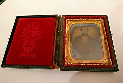 c.1860s Quarter Plate Multi Tint Ambrotype - HANDSOME Confederate Officer