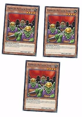 X3 Yugioh Goblin Attack Force Ldk2-Enj11 Common 1St In Hand