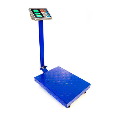New 300kg/660lb Weight Computing Digital Floor Platform Scale Postal Shipping