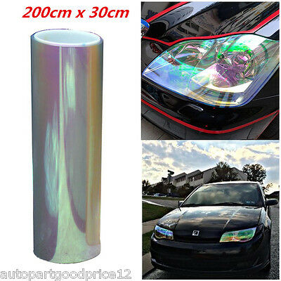 Chameleon Colorful Clear Car Headlight Tail Fog Light Vinyl Tint Film 200cmx30cm