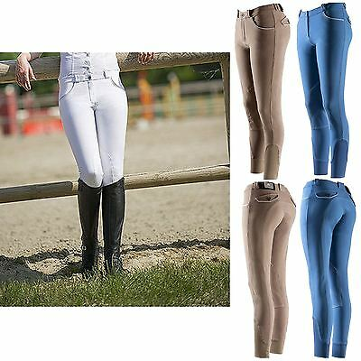 Equi-Theme Kids ?Verona? Breeches White/Light Grey
