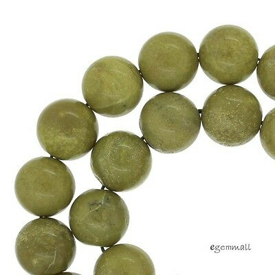 """15.5"""" Olive Green African Opal Round Beads 10mm #76003"""