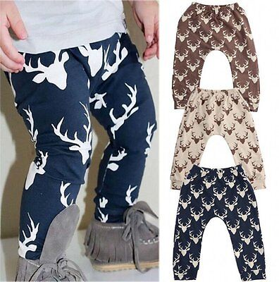 Fashion Baby Kid Boys Girls Printed Clothes Elastic Harem Pants Toddler Trousers
