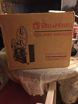 Bell & Howell Sound MX42Z Super 8 Single 8 Magnetic Vintage Movie Projector Cam