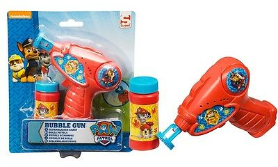 Paw Patrol Bubble Gun Shooter With Free Bubbles Solution Boys Children Toys 3+