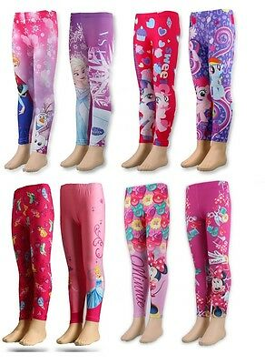 OFFICIAL Character Leggings Niña Minnie / Princesa / Frozen / Pony 2-8 Años
