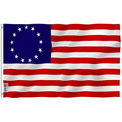 ANLEY Betsy Ross Flag United States Banner Polyester 3x5 Ft Flag Double Stitched