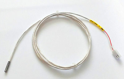 PT100 Thermistor - 3mm x 15mm Sensor - 1.3m Shielded Cable - 3D Printers, UM2