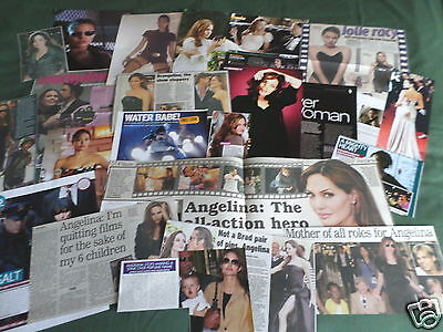 "Angelina Jolie  - Film Star - ""  Clippings /cuttings Pack """