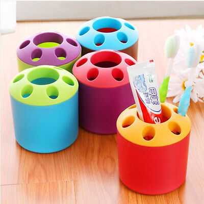Multicolor Toothbrush Toothpaste Holder Cup Glass Pot Pen Holder Container MW