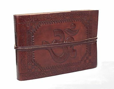 All began with Om Vintage Buffalo leather Photo album Black cotton paper India