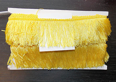 "1m 2.5"" 6cm drop Tassel Fringe / Fringing Trim lace trimming YELLOW"