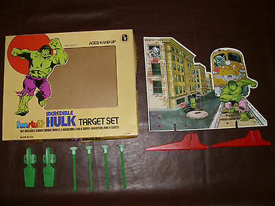 Vintage Incredible Hulk Target Set Marvel Avengers Rare Marvelmania  MIB 1978