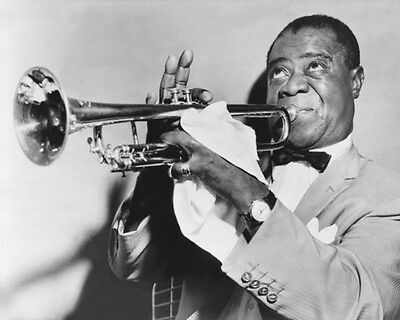 Jazz Band LOUIS ARMSTRONG Glossy 8x10 Photo Music Print Entertainment Poster