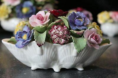 LARGE Aynsley Porcelain Flowers, Shell Basket Filled With Flowers, FABULOUS!!!!