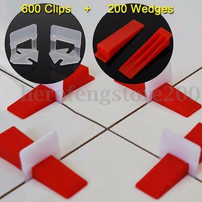 800 Tile Leveling System = 600 Clips + 200 Wedges - Plastic Spacers Tiling Tools