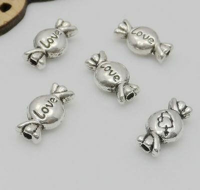 Free Ship 300Pcs Tibetan Silver leaf Spacer Beads Jewellery Findings 9.5x6mm