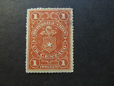 Chile - Tax Stamp - Coat Of Arms - 1 Centavo (17)
