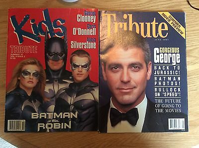 Lot Of 2 Tribute Magazine Batman Movies, Clooney, O'Donnell, Silverstone