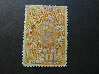 Chile - Tax Stamp - Coat Of Arms - 20 Centavos (52)