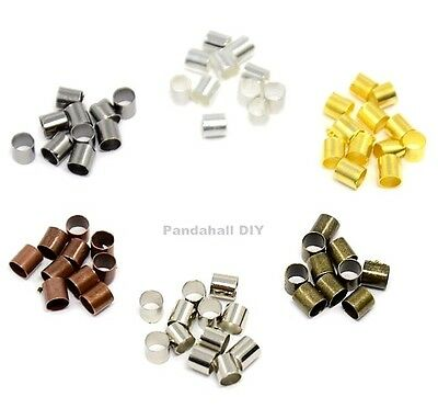 200pcs 2mm Closed Smooth TUBE Crimp Beads Earring Jewelry Findings Crimps Bead