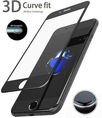 3D Full Coverage Tempered Glass Screen Protector for iPhone 7 6 6S Plus