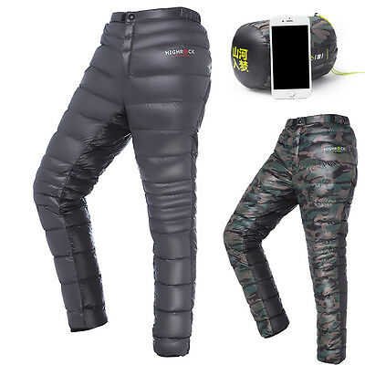 Men/Women Outdoor Winter Thermal Warm Ultralight White Goose Down Pants/Trousers