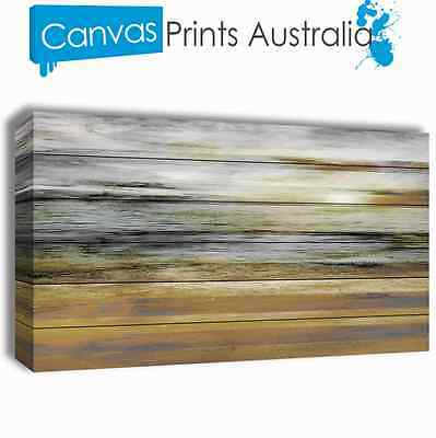 Beach Stretched Canvas Prints Abstract Ocean Landscapes Sun Gift Different Sizes