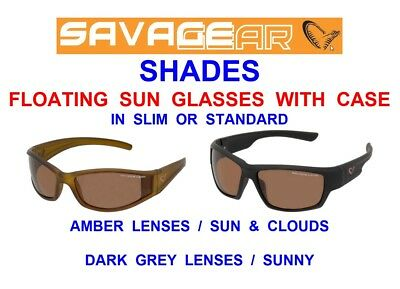 Savage Gear Polarized Sunglasses+Carry Case+Neck Strap+Lens Wipe Carp Fishing