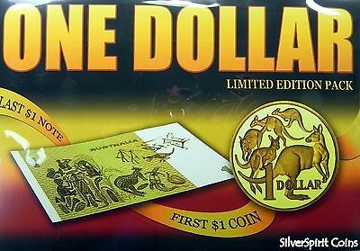 1984 $1 FIRST & LAST COIN & NOTE Set Limited Edition