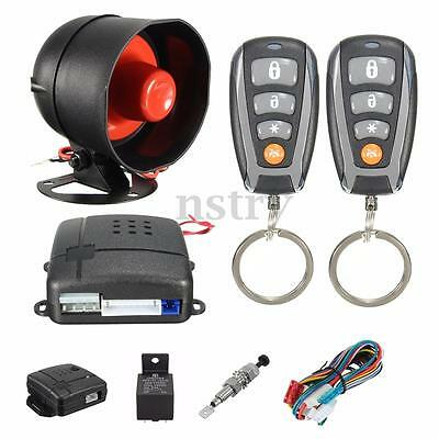 LED Universal One-Way Car Remote Control Entry Door Lock Alarm Anti-Theft System