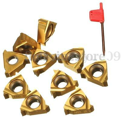 10PCS 11IR A60 Carbide Insert with Spanner For Threading Turning Tool Boring BAR