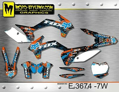 KTM SX SXf 125 150 250 350 450 kit graphics 2013 up to 2015 stickers decals kit