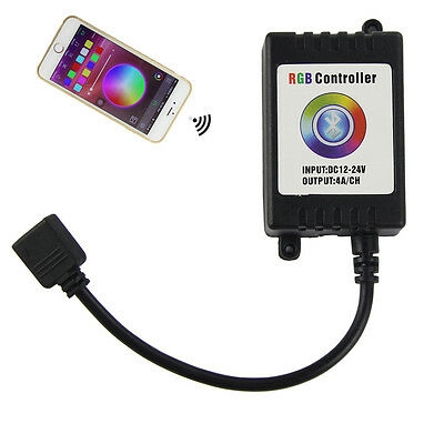 Bluetooth Wireless Music Remote Smartphone Controller for 3528 5050 LED Strip