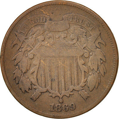 [#97806] United States, 2 Cents, 1869, U.S. Mint, Philadelphia, VF(20-25), KM:94