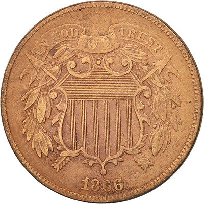 [#97773] United States, 2 Cents, 1866, U.S. Mint, Philadelphia, VF(30-35), KM:94