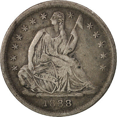 [#97819] United States, Seated Liberty Half Dime, 1838, Philadelphia, VF