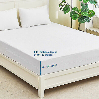 Fully Enclosed Waterproof Anti-Bed Bug Mattress Protector - King  Bed Size