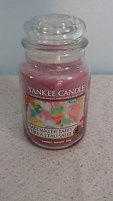 Yankee Candle Salt Water Taffy 22 oz Large Jar Candle~Tire A L'eau Salee Bougie