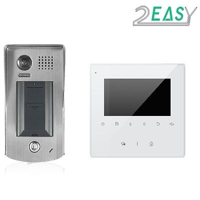 Two Easy Video Intercom With Fingerprint Recognition, For Gate Automation