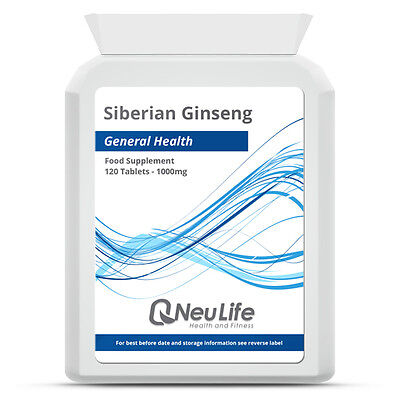 Siberian Ginseng - 1000mg - 120 Tablets