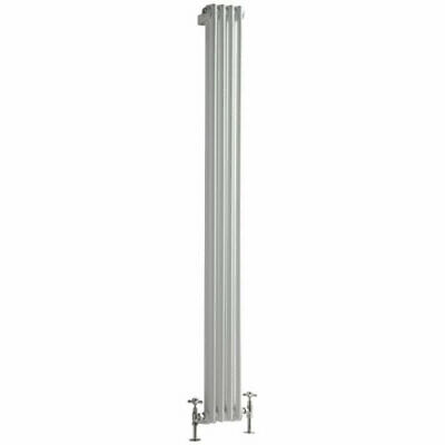 White Traditional Vertical 2 Column Radiator 1800 x 203mm  Central Heating