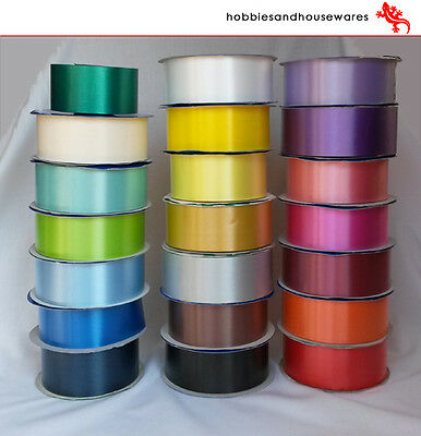 91m ROLL FLORIST RIBBON - wedding cars,bows,presents,christmas - 40 colours