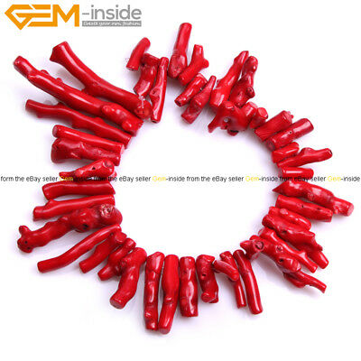 "Coral Stone Beads Irregular Spike Sticks Beads For Jewelry Making 15"" Jewelry"