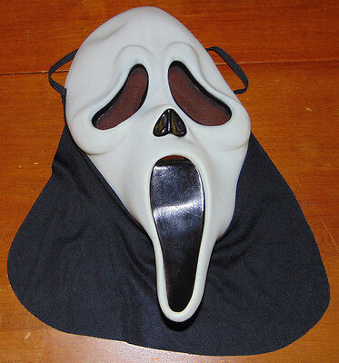 EASTERN UNLIMITED SCREAM GHOST FACE RUBBER MASK FOR HALLOWEEN costume