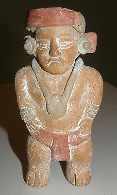Folk Art Clay Pottery Mexico AZTEC MAYAN Mesoamerican Chief Sculpture Mexican