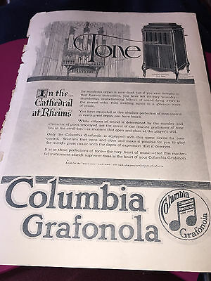 Vintage Columbia Grafonola & Pompeian Night Cream Magazine Ad