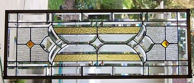 """Stained Glass window hanging 38 3/8  X 14 1/4"""""""